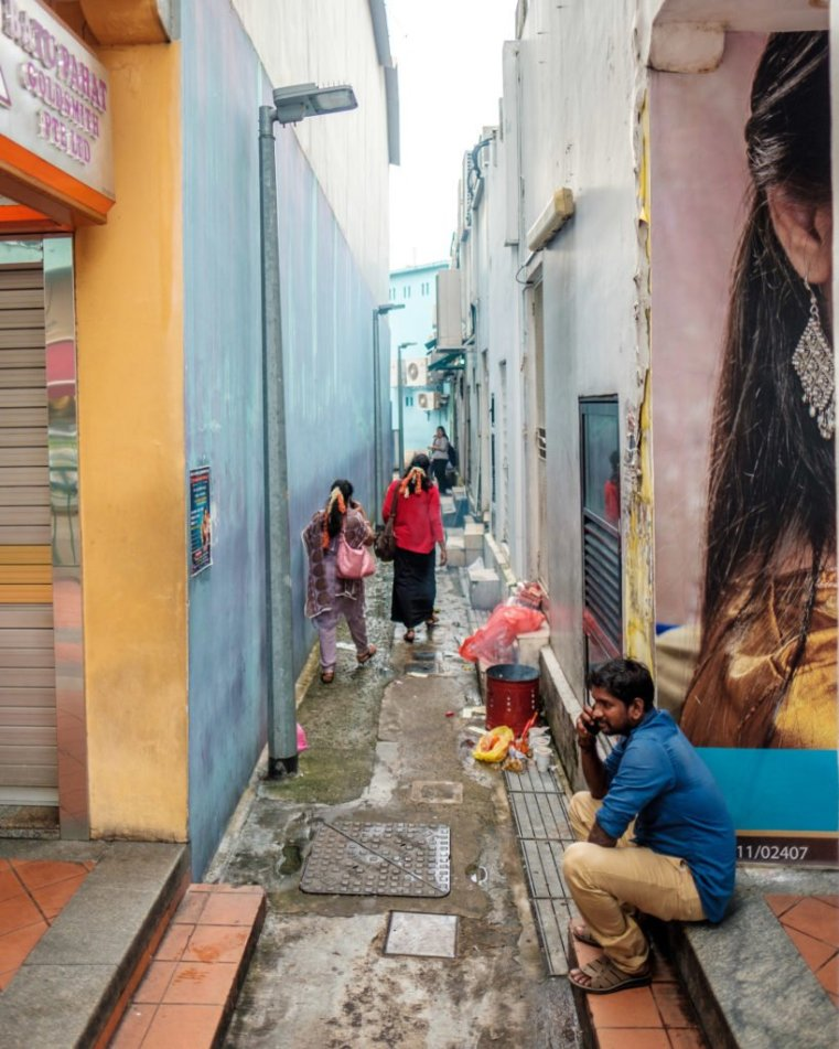 In the streets of Little India, Singapore