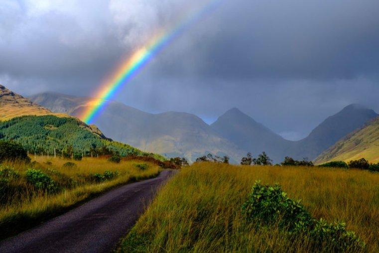 Rainbow, Glen Etive, Scotland