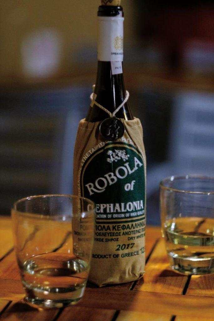 Robola wine bottle