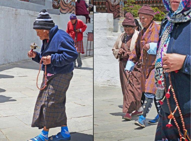 Community circumambulating of National Chorten, Thimphu