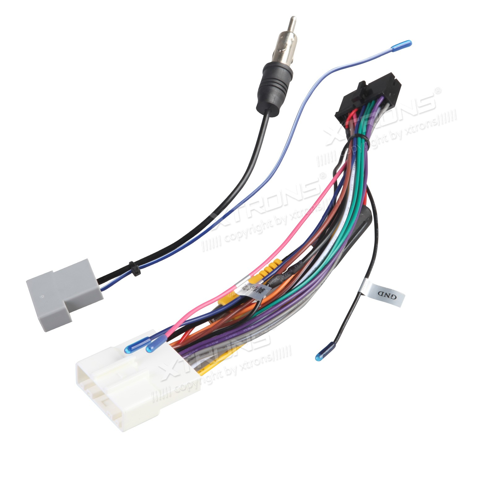 hight resolution of iso wiring harness for the installation of xtrons td626ab td626abd in nissan cars