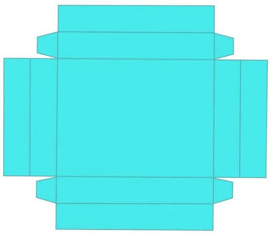 Выкройка для коробки своими руками из мягкого картона