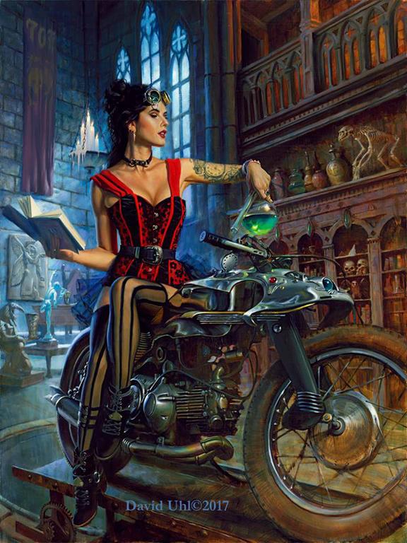 Motorcycle And Car Drift Wallpaper The Alchemist Uhl Studios