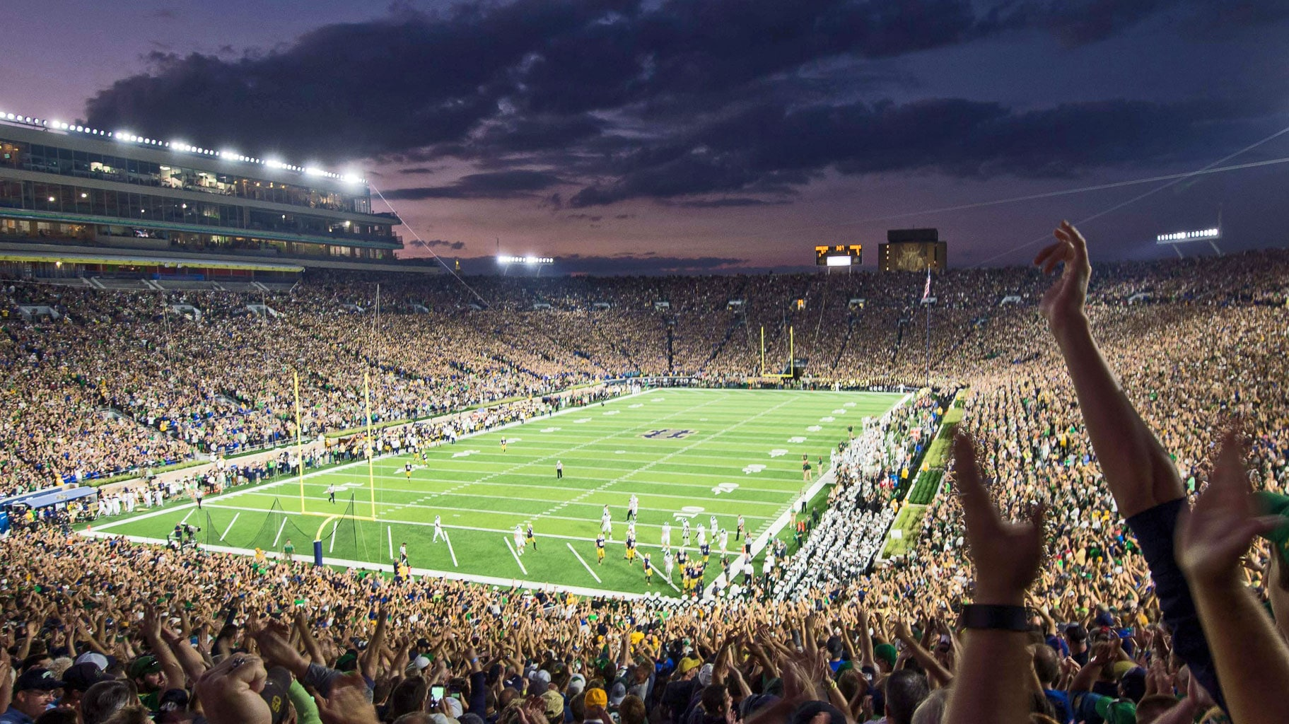 Notre Dame Stadium - The House That Rock Built // UHND.com