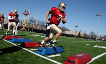 Notre Dame kicked off the 2009 Training Camp on Saturday.