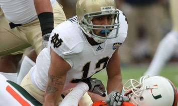 Robert Blanton is one of two cornerbacks that Notre Dame could ill-afford to lose to an injury in 2011. (Photo - Icon SMI)