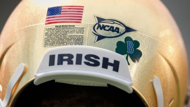 Notre Dame Helmets - Boston Tribute