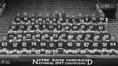 Notre Dame's 1947 National Championship Team