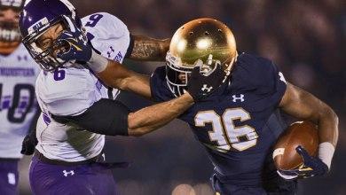 Cole Luke - Notre Dame CB v. Northwestern