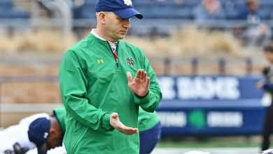 Notre Dame Defensive Coordinator Clark Lea is set to call his first game this weekend.
