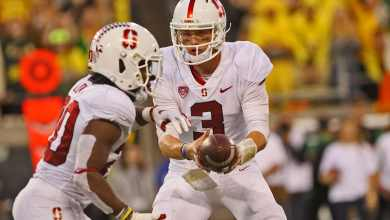 Stanford QB KJ Costello and RB Bryce Love