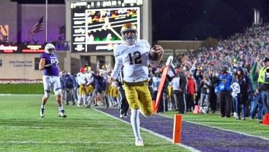 Notre Dame QB Ian Book runs for the game sealing TD vs. Northwestern.