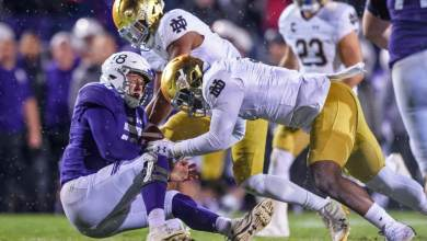 Notre Dame will need it's defensive line to make Eric Dungey feel uncomfortable this weekend.