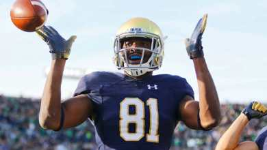Notre Dame WR Miles Boykin is headed to the NFL instead of returning for a 5th year