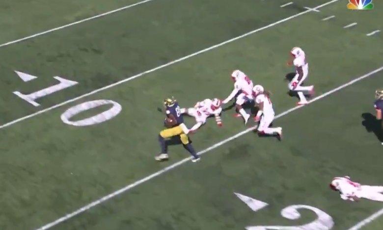 Watch: Notre Dame's Javon McKinley Break 6 Tackles for His ...