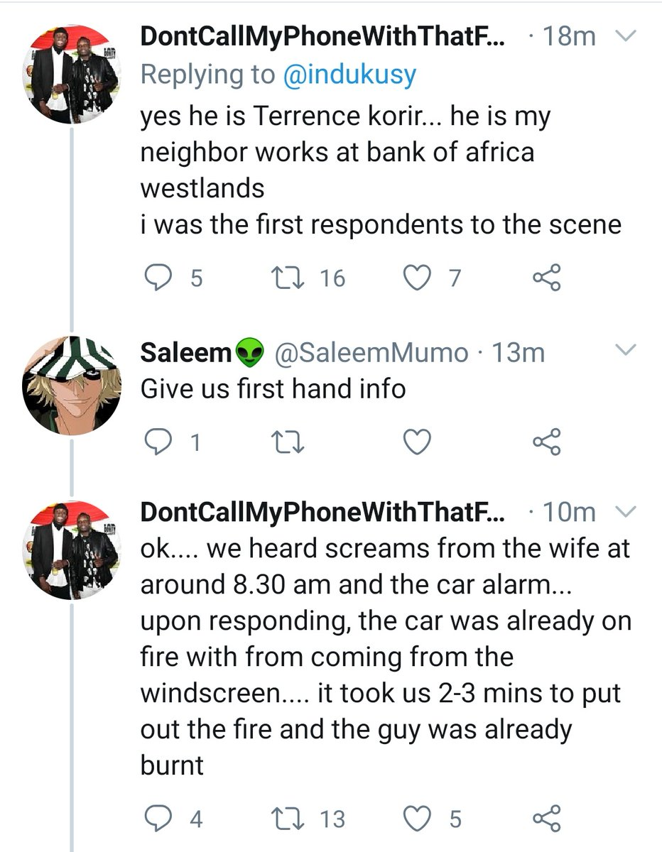 Screengrab showing a man who claims to have been neighbours with the late Terrence Korir gives his account of the tragic incident.a