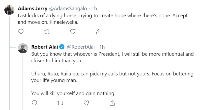 Uhuru, Raila and Ruto pick my calls, says blogger Alai.