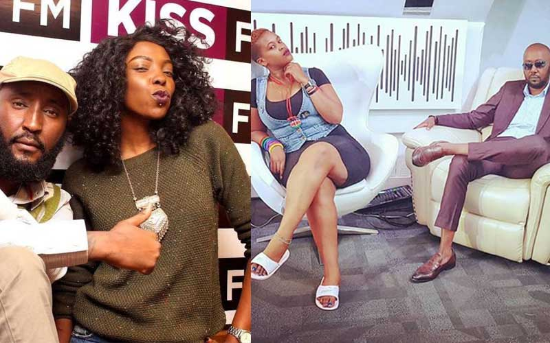 "LEFT: Former Kiss 100 FM ""Breakfast Show"" hosts Shaffie Weru and Adelle Onyango 