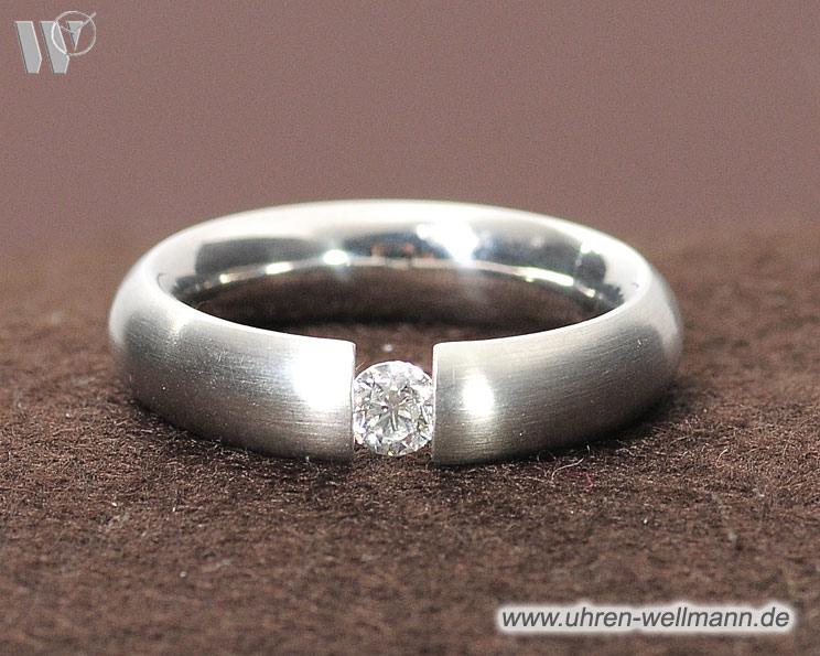 Bunz Platin Ring mit Diamant sicher kaufen  2826