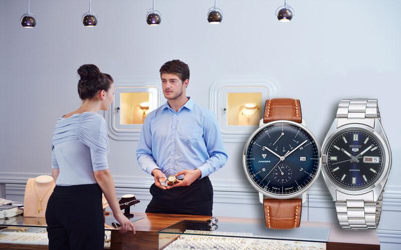 Verschiedene Verschlussarten von Armbanduhren