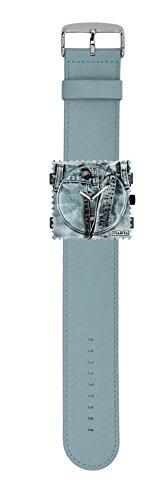 S.T.A.M.P.S. Stamps Uhr komplett - Zifferblatt Open auf Lederarmband pastell blue