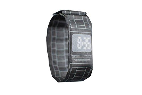 Armbanduhr Paprcuts Watch aus Tyvek® reissfest wasserfest unisex verschiedene Motive zur Auswahl (retro black)