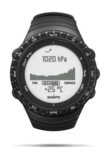 Suunto Unisex Core Outdoor-Uhr für alle Höhenlagen, Höhenmesser, Barometer, Wetterfunktionen, Robustes Verbundgehäuse, standard schwarz, Wasserfest (30 m), SS014809000