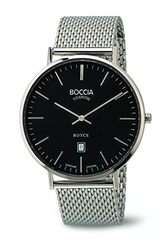 Boccia Herren-Armbanduhr Analog Quarz Edelstahl 3589-07