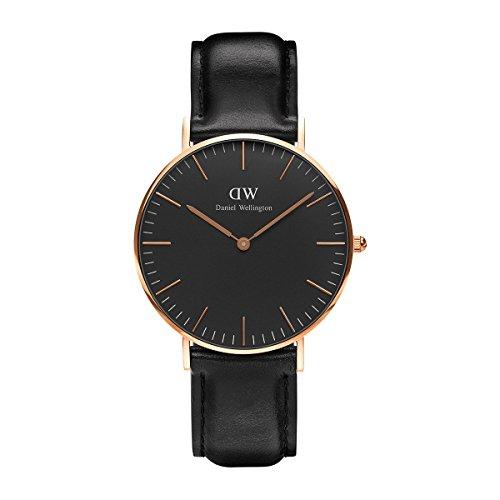 Daniel Wellington Unisex Analog Quarz Uhr mit Leder Armband DW00100139