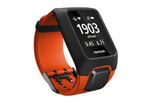 TomTom Adventurer Outdoor GPS-Uhr (Outdoor-Sport Modi, Routenfunktion, Barometer, Eingebauter Herzfrequenzmesser, 3GB Speicherplatz für Musik) Orange, M
