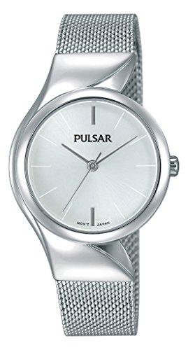 Pulsar Damen Analog Quarz Uhr mit Edelstahl Armband PH8229X1