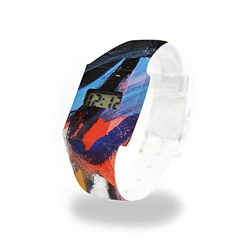 ROME Pappwatch / Paperwatch / Digitale Armbanduhr aus Tyvek®, absolut reißfest und wasserabweisend