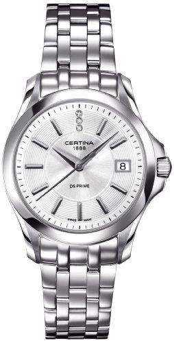Certina Damen-Armbanduhr XS Analog Quarz Edelstahl C004.210.11.036.00