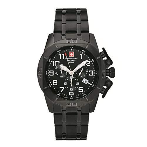 Swiss Alpine Military Herren Uhr Chrono 7063.9177SAM Edelstahl