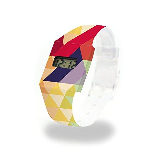 WOODY Pappwatch / Paperwatch / Digitale Armbanduhr aus Tyvek®, absolut reißfest und wasserabweisend