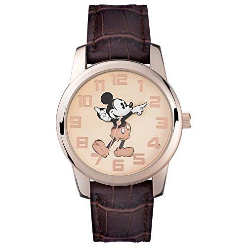 Mickey Mouse Unisex-Uhr Analog Quarz mit Polyurethanarmband – MK1459