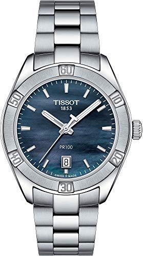 Tissot T-Classic Damen-Armbanduhr 36mm Blau Quarz T101.910.11.121.00