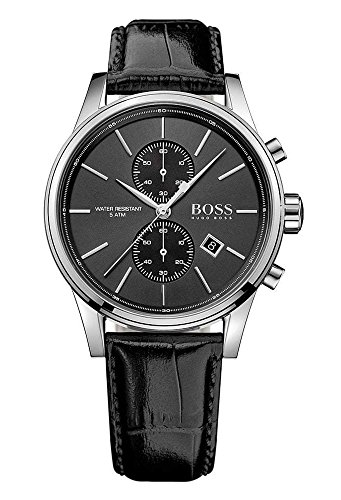 Hugo Boss Herren-Armbanduhr Jet Chronograph Quarz Leder 1513279