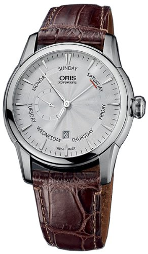 Oris Artelier Automatic Small Second Pointer Day Steel Mens Strap Watch Silver Dial 745-7666-4051-LS
