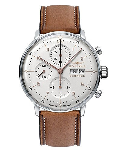 Junkers Herren-Armbanduhr Analog Automatik One Size, silberfarben, braun