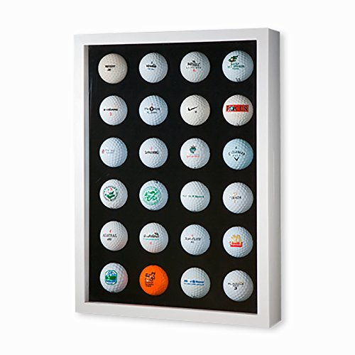 Golfball-Vitrine Weiß für 24 Golfbälle