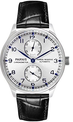 PARNIS 9024 elegante Herren-Automatikuhr 5BAR Wasserdicht 43mm Herren-Uhr Lederarmband SeaGull Markenuhrwerk Kaliber ST25