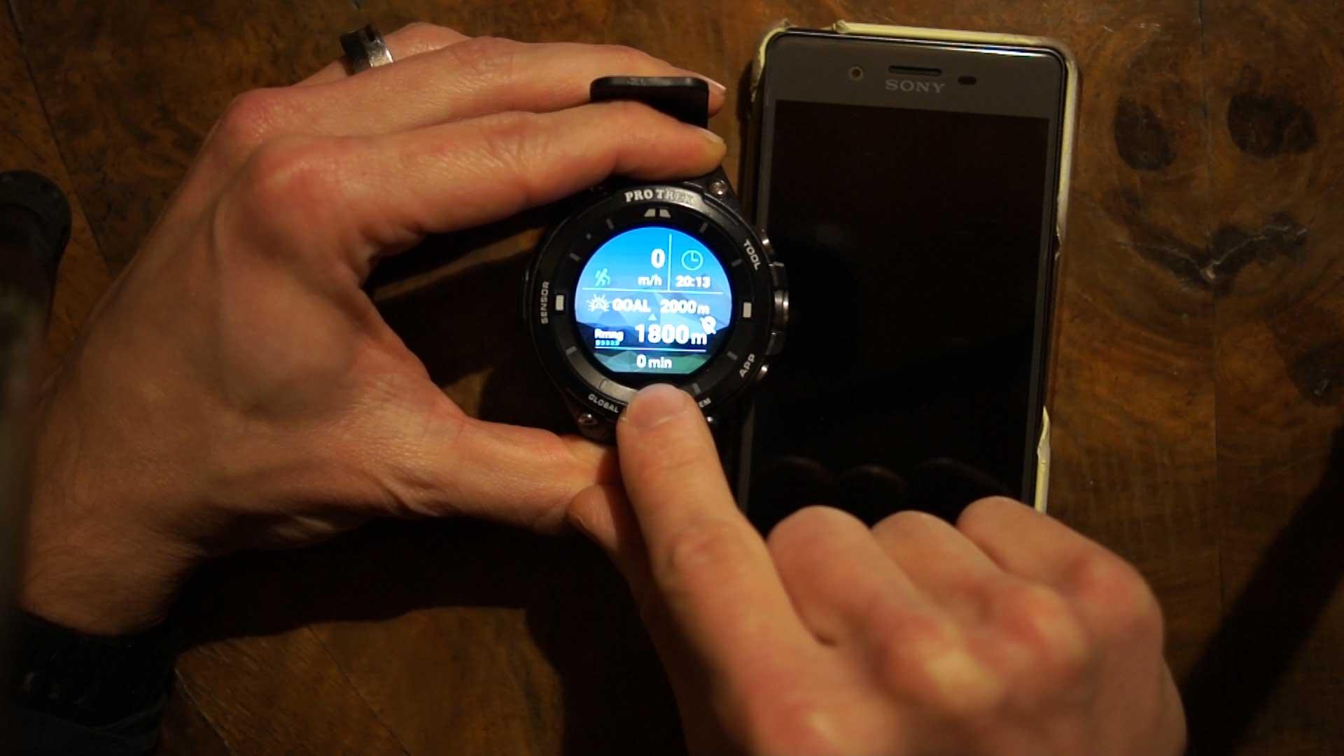 The Casio Protrek Smart Wsd F20 Casio Apps Tool Activity