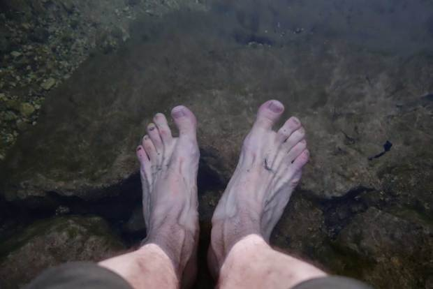 Wandererfüsse im Hallstätter See
