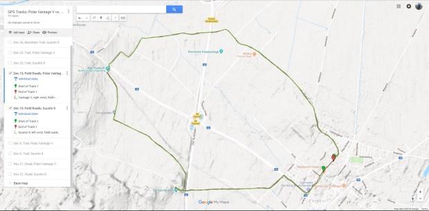Polar Vantage V (jetzt auf Firmware 2.0.7) und Suunto 9 Baro GPS-Tracks.