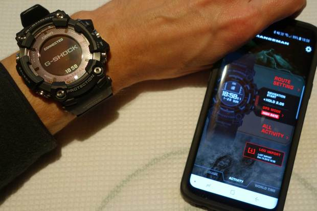 Casio Rangeman linked to Casio Connected App