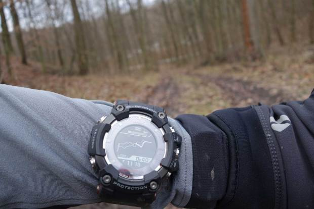 "Route loaded into and displayed on the Casio Rangeman for navigation - at the ""most detailled"" zoom level one can get on it"