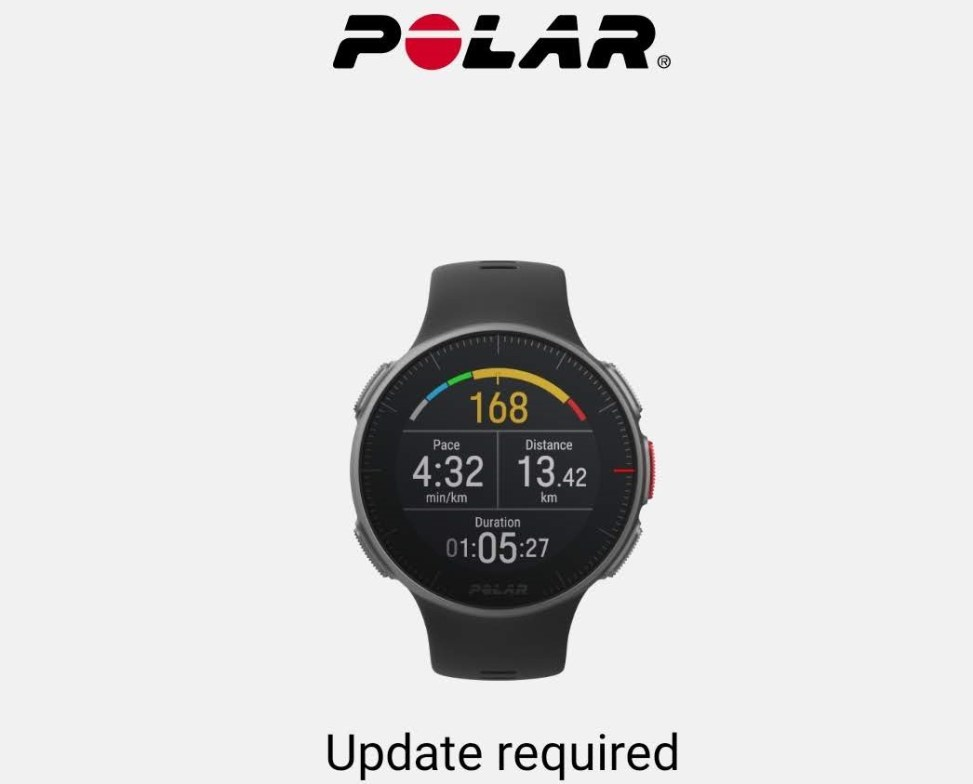 Polar Vantage Software Roadmap - Time and Tours