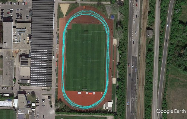 400 m Track Running with Garmin FR945