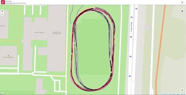Vantage V Laps on Running Track